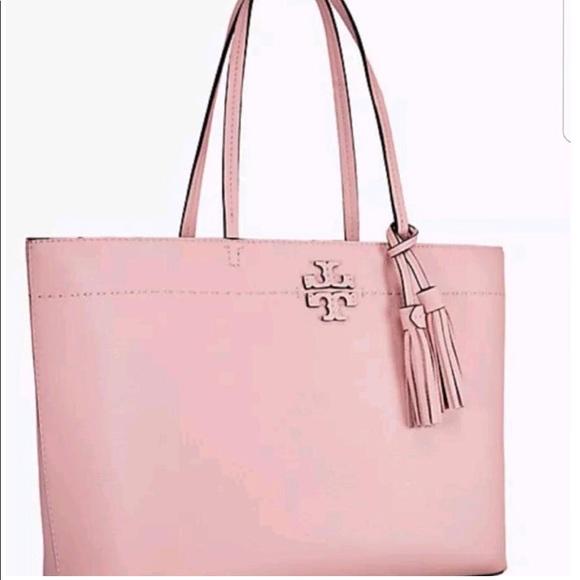 0feb05112c29 Tory Burch Mcgraw Pink Quartz Pebbled Leather Tote.  M 5bd07570e944ba6256f3152c